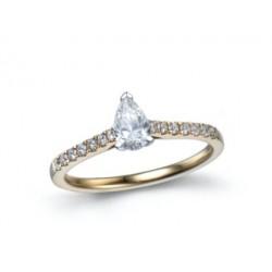 18kt Bicolor gouden ring met briljanten 0.59ct - 609685