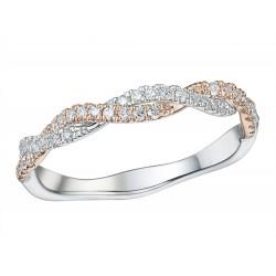 18kt Bicolor gouden ring met briljant 0.26ct - 609688