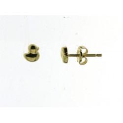 18kt geel gouden ooringen - eendje - 606881