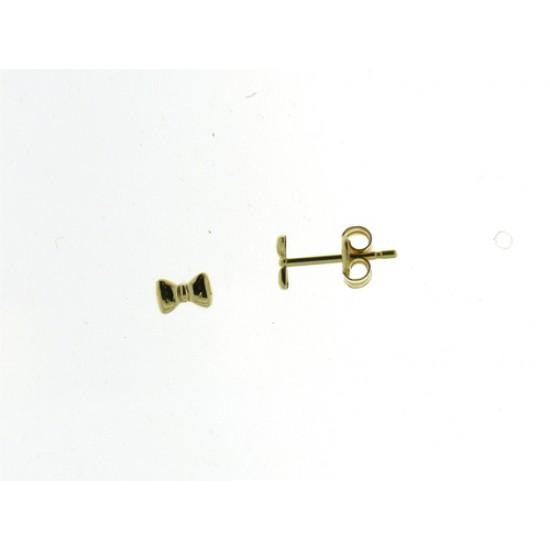 18kt geel gouden oorringen - strikje - 604853