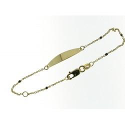 18KT geelgouden armband met graveerplaat - 608994