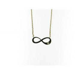 18kt geel gouden halsketting met infiniti - 606876