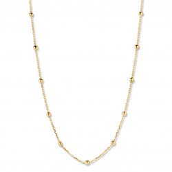 18KT geelgouden halsketting 45cm - 608588