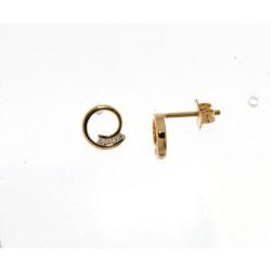 18kt gouden oorringen briljant 0.06ct - 604841