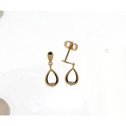 18kt geel gouden oorringen met diamant 0.03ct - 605662