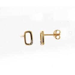 18kt geel gouden ooringen met diamant 0.010ct - 605477