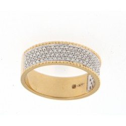 18kt Bicolor gouden ring met briljant 0.48ct - 606862