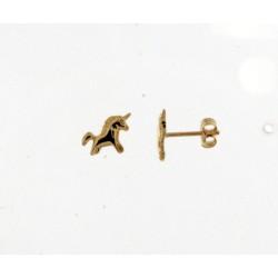 18KT Geelgouden oorringen - paardje - 608597