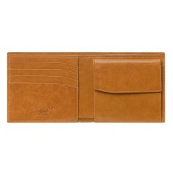 Montblanc Meisterstuck wallet 4cc with coin case brown - 604511