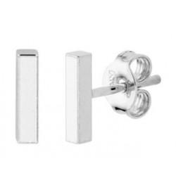 Zilveren oorringen - staafjes - 607747
