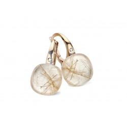 BIGLI Mini Sweety - 18kt rose gouden oorringen met ruptielkwarts + parelmoer 12ct en diamant 0.02ct - 609775