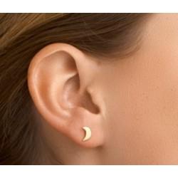 Zilveren oorringen - maantjes geel verguld - 607728
