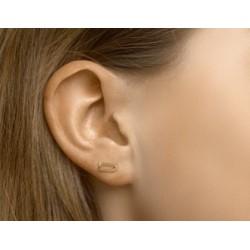 Zilveren oorringen - ovale cirkels verguld - 607727