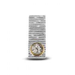 SEE YOU memorial gedenksierraad - zilveren hanger met 14kt cirkel - 608469