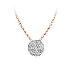 BIGLI Mini Leaves - 18kt bicolor gouden halsketting met diamanten hanger 0.28ct - 609837