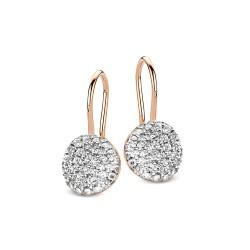 BIGLI Mini Leaves - 18kt bicolor gouden oorringen met diamant 0.49ct - 609852