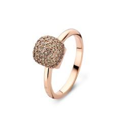 BIGLI Mini Sweety - 18kt rose gouden ring met bruine diamant 0.64ct - 609832