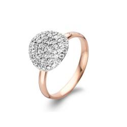 BIGLI Mini Leaves - 18kt bicolor gouden ring met diamant 0.60ct - 609838