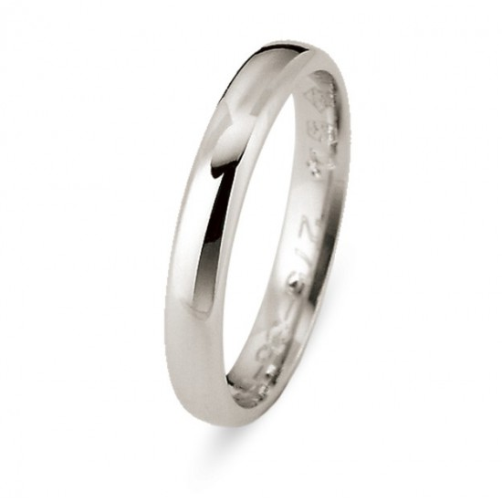 DUO 18KT WIT GOUDEN TROUWRING - 603648