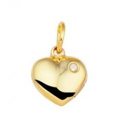 14kt geel gouden hanger - hartje - 606651