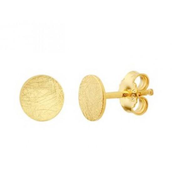 14kt geel gouden oorringen - rondje - 607760