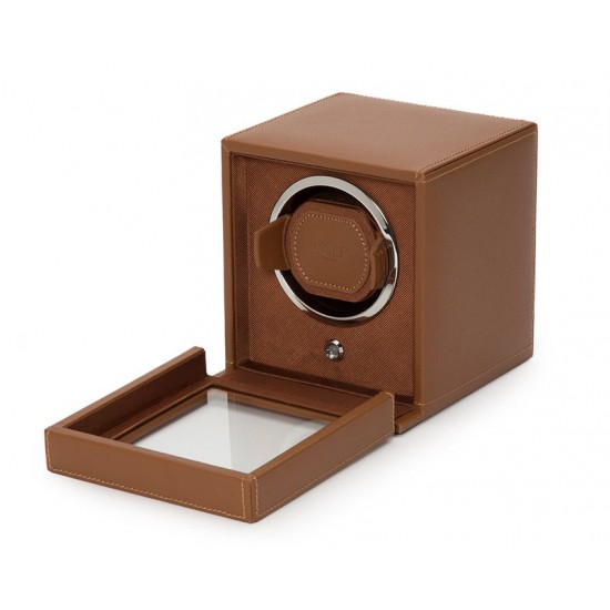 Wolf cub single watch winder - Cognac - 608715