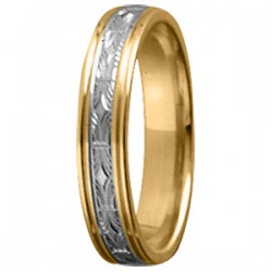 Tessina 18kt bicolore trouwring - 51612