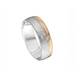 Tessina 18kt gouden trouwring met diamant 0.04ct - 603448