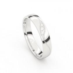 Ring in 14kt. witgoud met briljant - 603160