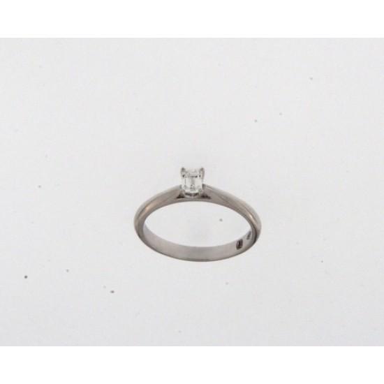 18kt witgouden ring met briljant 0.30ct - 608801