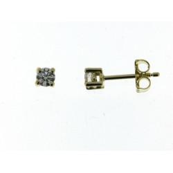 18kt gouden oorringen met briljant 0.38ct - 604895