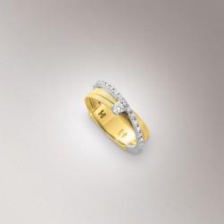 MARCO BICEGO GOA 18kt bicolor gouden ring met briljanten 0.23ct - 609719