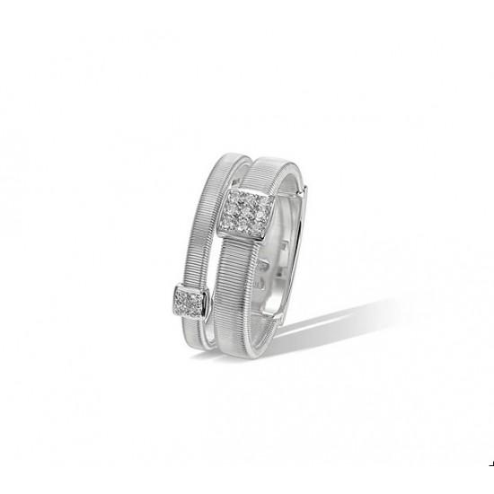 MARCO BICEGO MASAI 18kt wit gouden ring met briljant 0.10ct - 604842