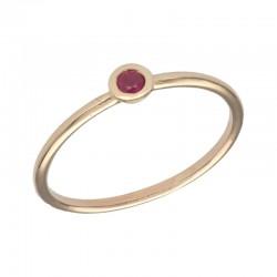 SWING JEWELS 18kt geel gouden ring met geboortesteen - Juli - 610593