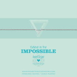 Heart to get bracelet - believe in the impossible - 601844