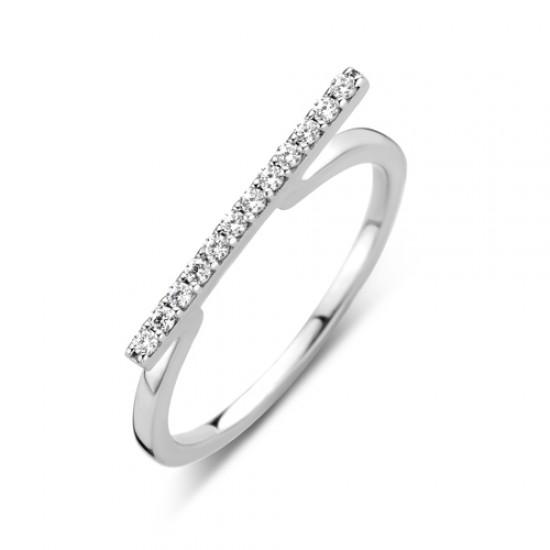 NAIOMY zilveren ring met zirconium - 605851