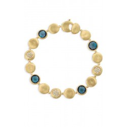MARCO BICEGO JAIPUR 18kt gouden armband met Londen Blue Topaas en diamant - 603802