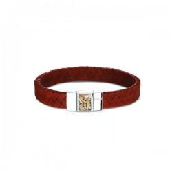 SEE YOU memorial zilveren armband met leder - 603734