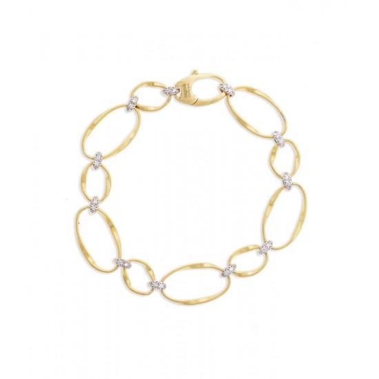 MARCO BICEGO MARRAKECH Onde - 18kt bicolor gouden armband met briljant 0.18ct - 608783