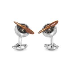 DEAKIN & FRANCIS manchetknopen zilveren met beweegbare propeller - 54236