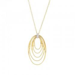 MARCO BICEGO MARRAKECH Onde - 18kt bicolor gouden halsketting met briljant 0.05ct - 608778