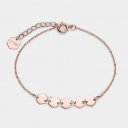 CLUSE Essentiele rose gold hexagons chain bracelet - 602658