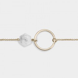 CLUSE Idylle gold open circle marble hexagon chain bracelet - 602661