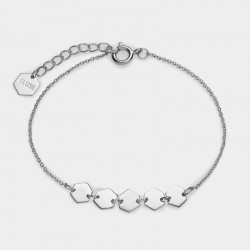 CLUSE Essentiele silver hexagons chain bracelet - 602652