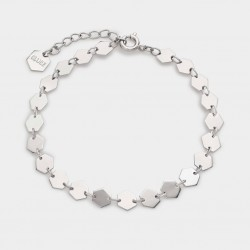 CLUSE Essentiele silver all hexagons chain bracelet - 602648