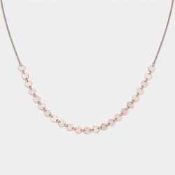 CLUSE Essentiele rose gold all hexagons choker necklace - 604207