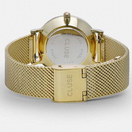 CLUSE Minuit Mesh Gold dames uurwerk - 608539
