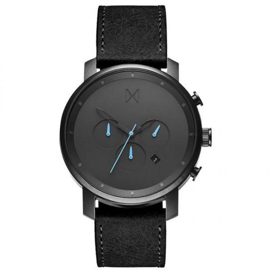 MVMT heren chrono uurwerk - Gunmetal Black leather - 605459