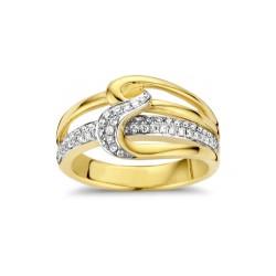 DULCI NEA - 18 kt bicolor ring met diamant (0.37ct.) - 602360