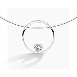 FJF Jewellery zilveren halsketting met Swarovski - 609207